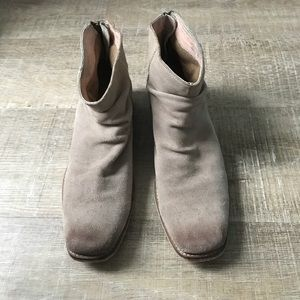 Urban outfitters taupe booties